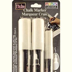 Bistro Chalk Markers, White, 3